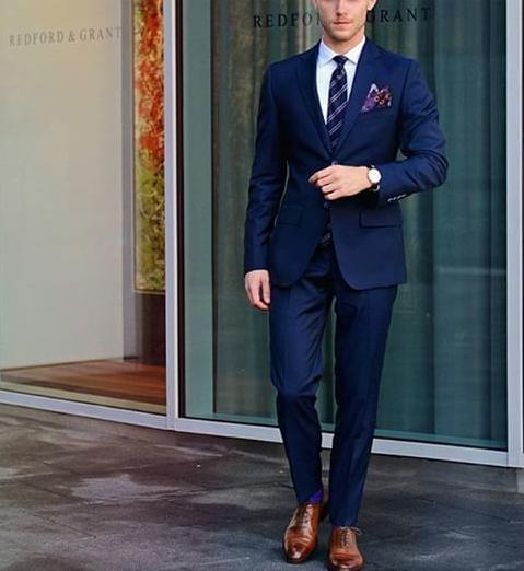 Pin By Zaneta Klosak On Trajes Slim Fit Suit Men Blue Suit Men Mens Street Style