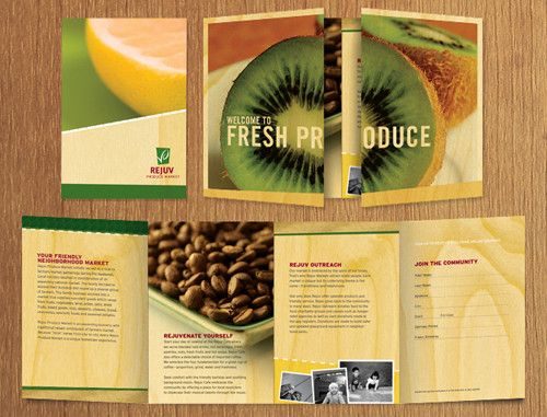 Gatefold Brochure Design Examples  Fresh Produce  Design