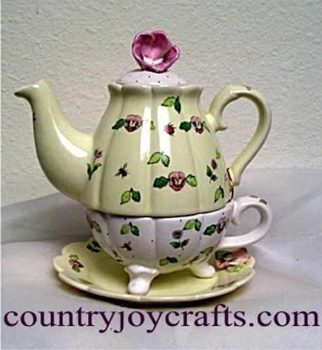 we have a great selection of collectible ceramic tea pots. They are fully functional and come in many styles and colors.