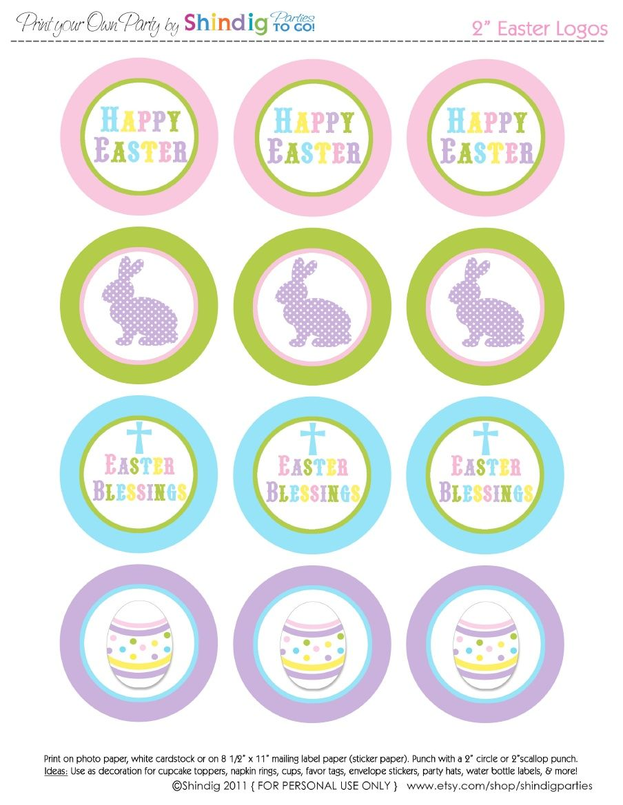 Free Easter Printables Set To Raise Money For Military Families Baby Showers Through Operation Shower Easter Printables Free Easter Stickers Easter Printables