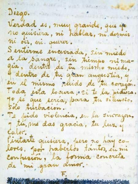 Poema De Diego Rivera A Frida Kahlo Cartas De Frida Kahlo Cartas De Frida Kahlo Frase De Frida