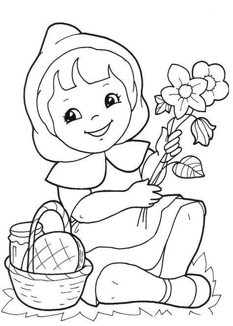 Dibujos de Caperucita Roja para Colorear e Imprimir | BB1 | Pinterest