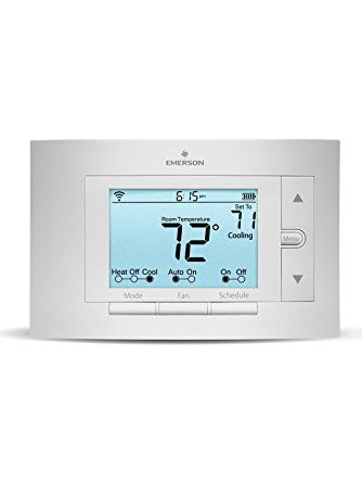 Sensi Smart Thermostat Wi Fi Works With Amazon Alexa White Rodgers Smart Thermostats Cheap Home Security Systems Smart Alarm