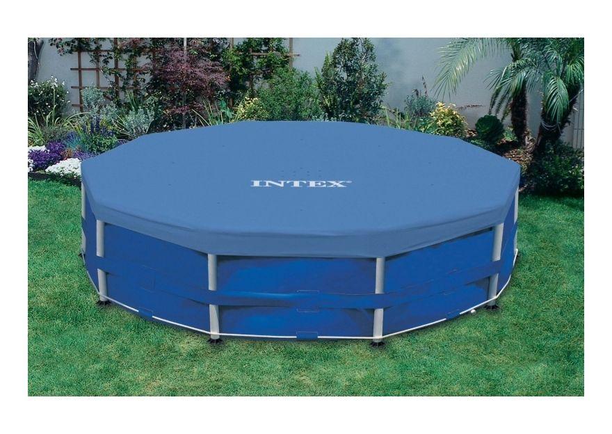 Bache Pour Piscine Tubulaire Ronde 3 05m Intex Pool Accessories Cool Pools Intex Pool