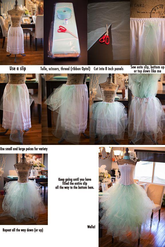 Hacer vestido tul mujer