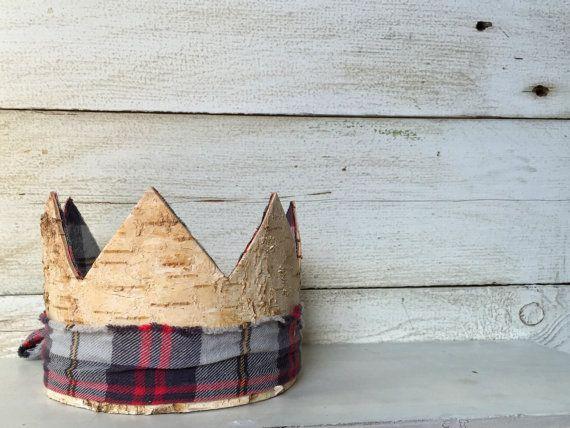 Birch Wood Crown Party Hat Lumberjack Baby Boy By DarlingReign