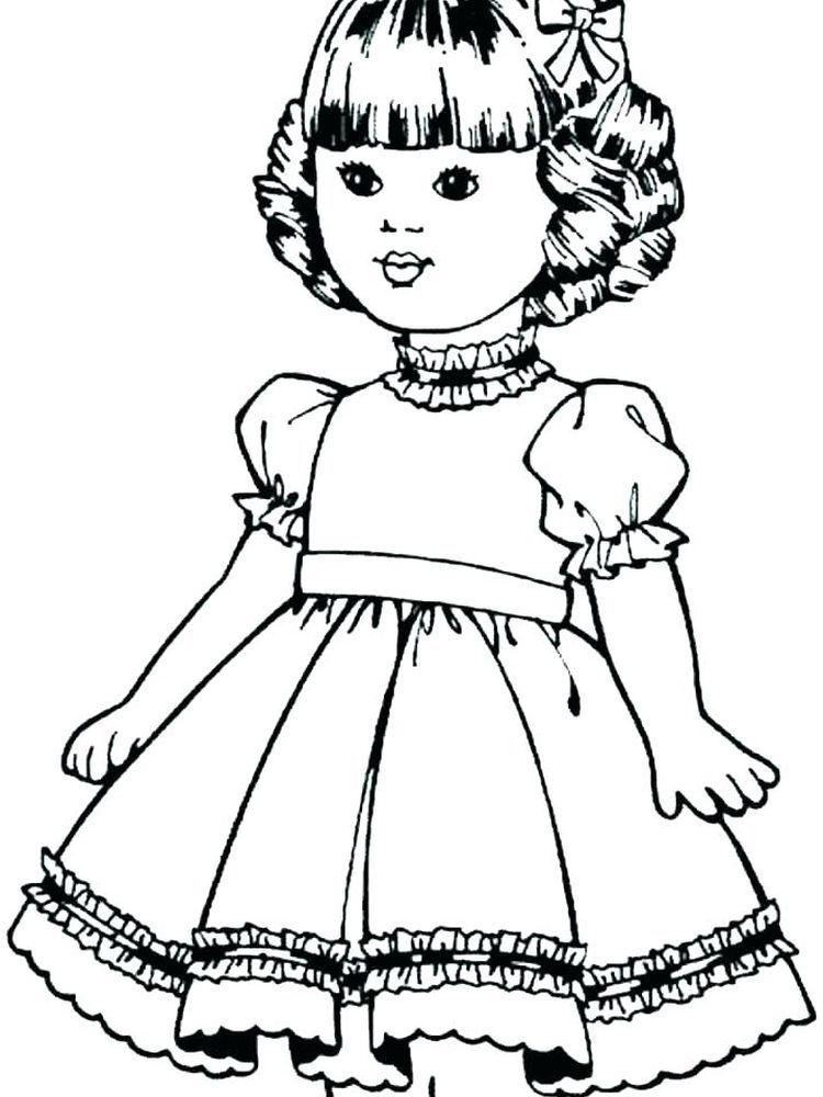 Printable Doll Coloring Pages For Kids - Free Coloring ...