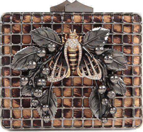 Roberto Cavalli Black Bumble Bee Clutch Bag