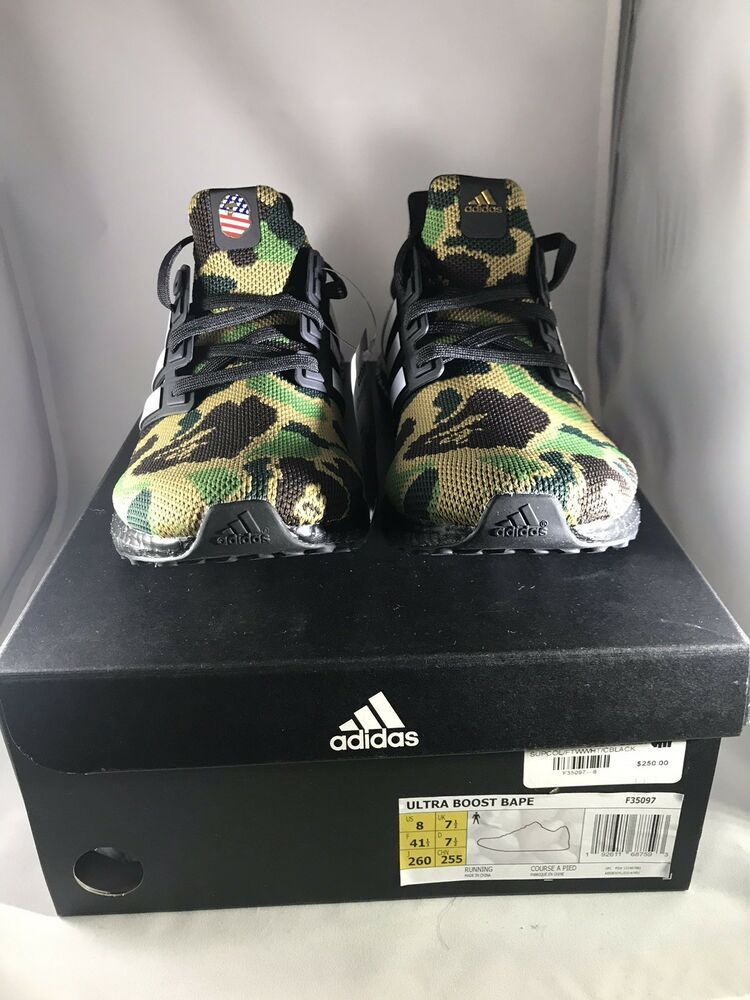 c6ad74e7e4a7a Bape x Adidas Ultra Boost 4.0 Green Camo Super Bowl size 8  fashion   clothing  shoes  accessories  mensshoes  athleticshoes (ebay link)
