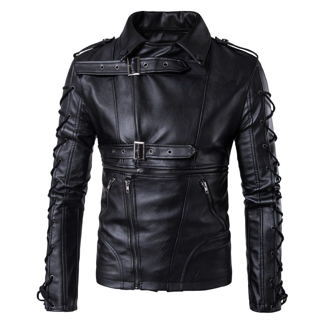 Motorcycle Style Leather Jacket Winter leather jackets