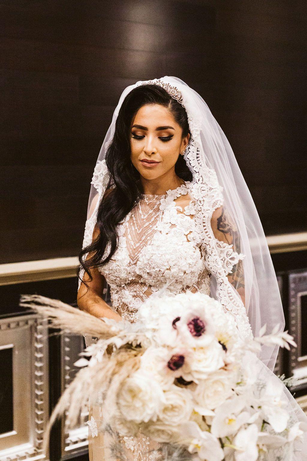 Bridal portraits wedding dresses lace