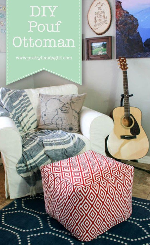 DIY Pouf Ottoman Tutorial And Lessons Learned Pillows Classy Make Your Own Pouf Ottoman