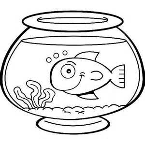 Coloring Pictures Of Fish Bowls Google Twit Clipart Best
