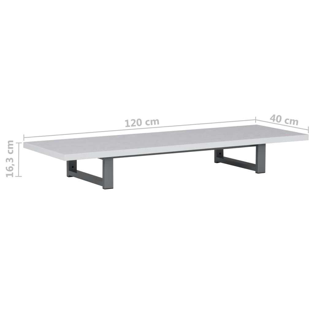 Photo of Bathroom Wall Shelf for Basin White 120x40x16.3 cm