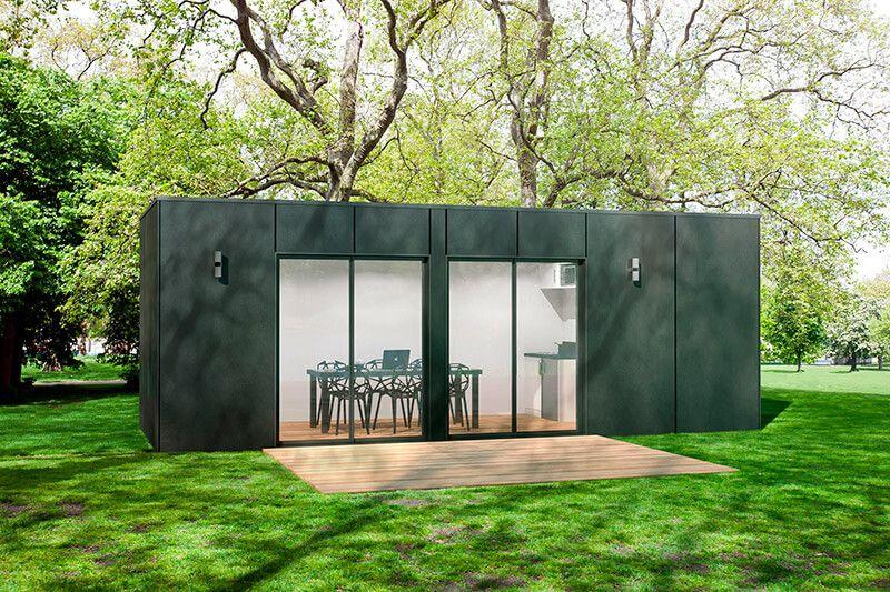 Image Wood Design Studio 20m2 Studio De Jardin Maison En Pierre Abri De Jardin Moderne