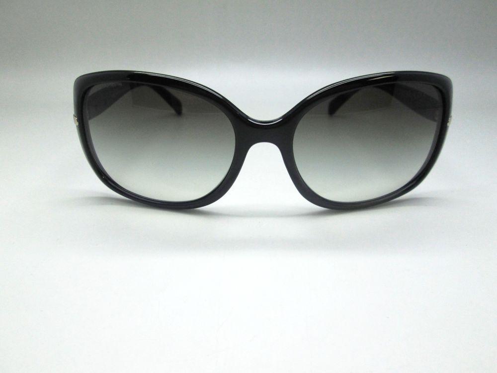 6a8a30ace2 eBay  Sponsored PRADA SPR 08O Black Oversize Sunglasses Made in Italy SPR08O