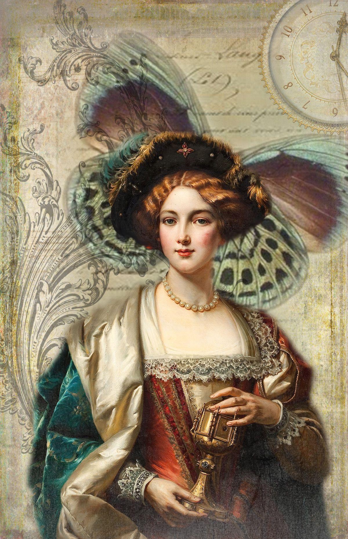 Renaissance Maiden Historical art, Fashion illustration
