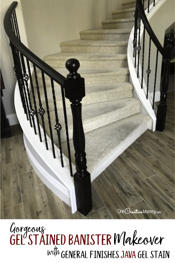 Gorgeous Java Gel Stain Staircase Makeover | Java gel ...