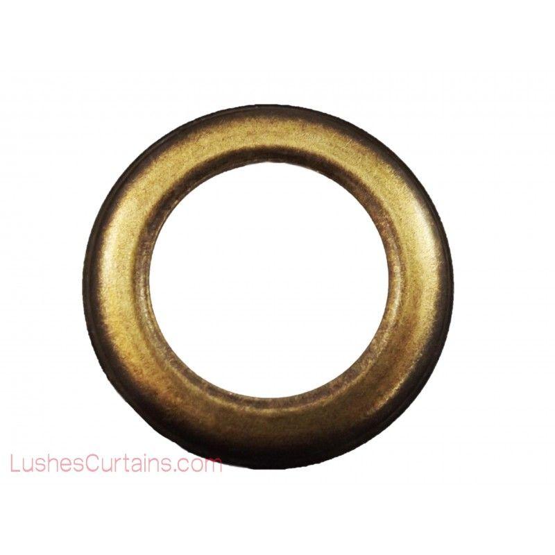 Antique Brass Drape Metal Rings Grommets Drapery Supplies By