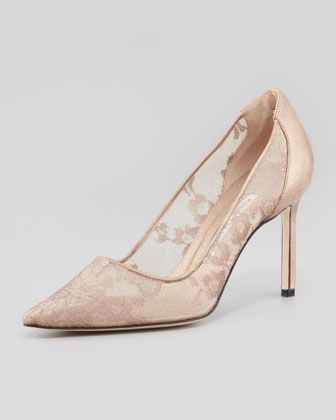 BB Metallic Lace Pointed Toe Pump, Nude/Gold By Manolo Blahnik At Neiman  Marcus. | Wedding Bells | Pinterest | Lace Pumps, Metallic Lace And Manolo  Blahnik