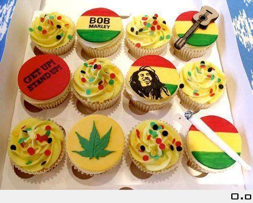 Bob Marley Cup Cakes