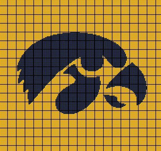 Iowa hawkeyes university of crochet afghan