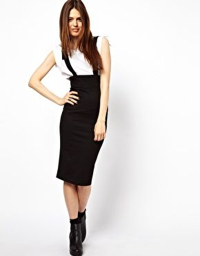 26d76e5e35a33 ASOS Wasp Pencil Skirt in Ponte with Braces | STYLING STYLES ...