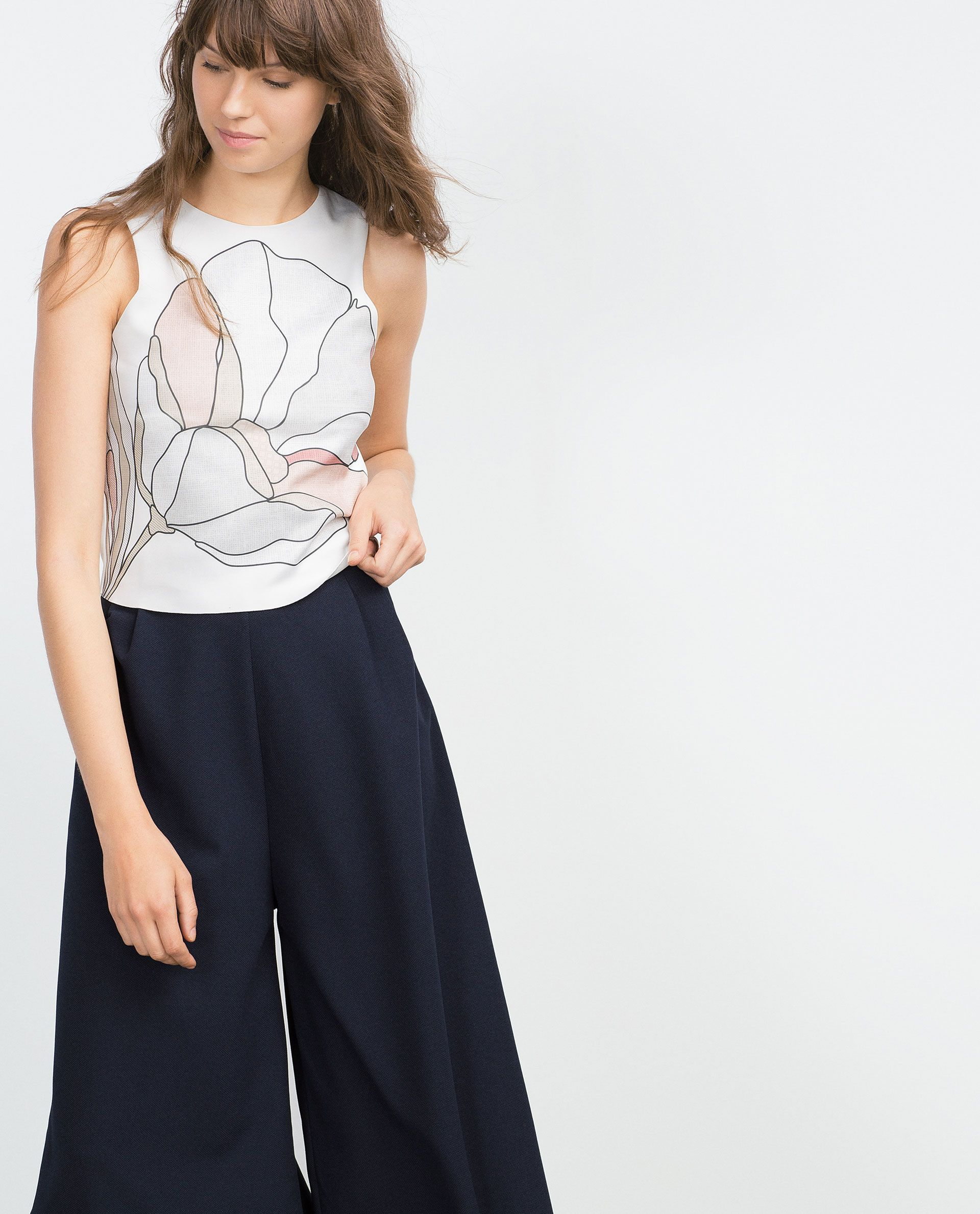 PRINTED TOP - View all - T - shirts - WOMAN | ZARA United States