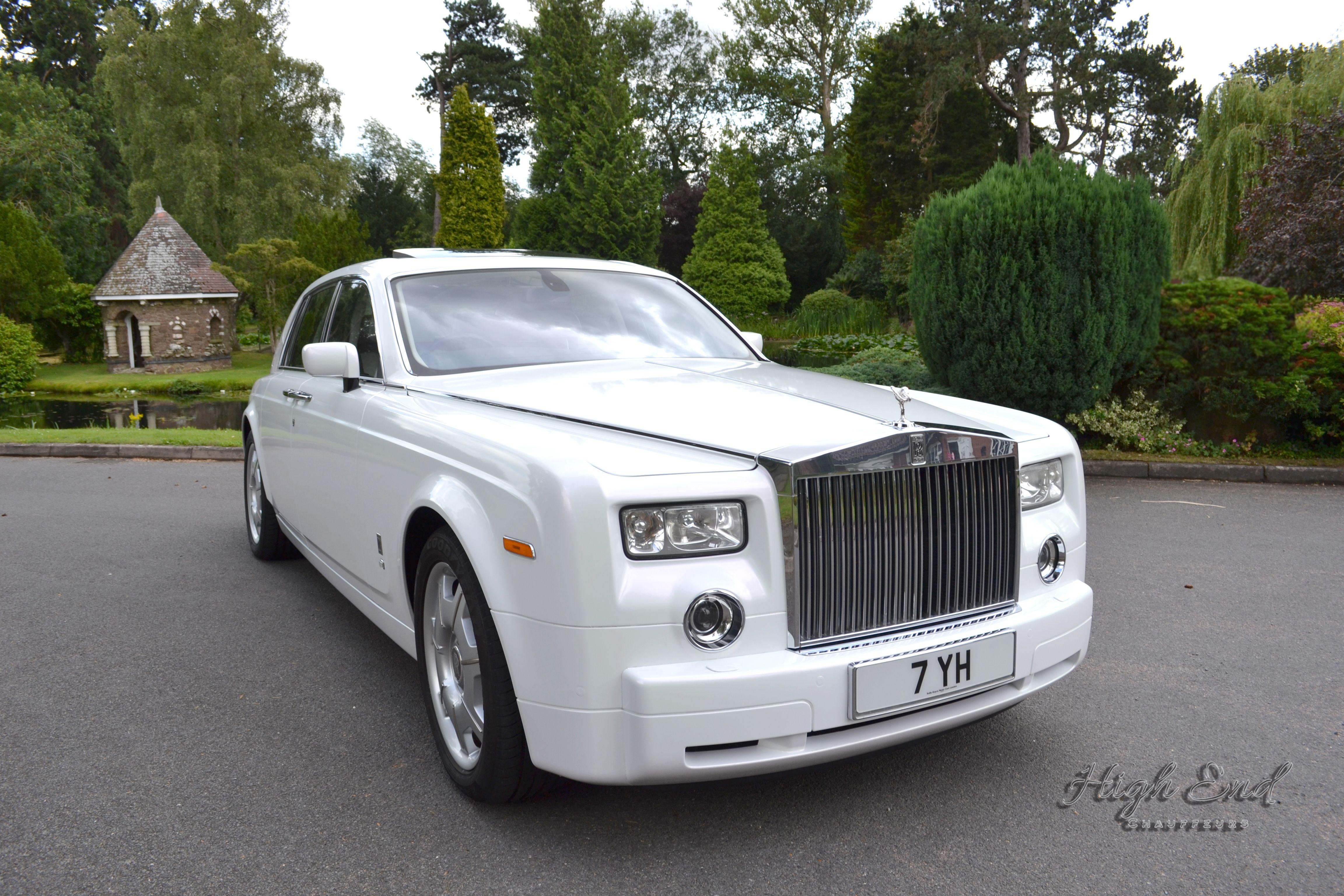 Pearl White Rolls Royce Phantom by High End Chauffeurs of ...