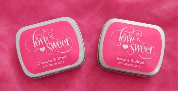 Weddings Mint Tins Personalised Tin Wedding Favours