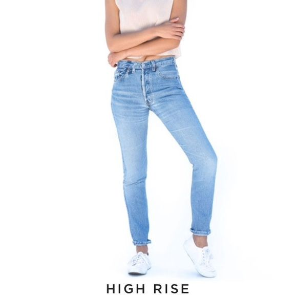 High rise jeans 100 cotton