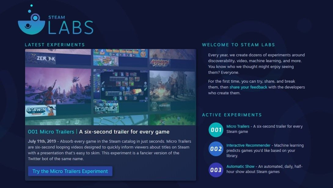 Steam Store's experimental new features to help you find