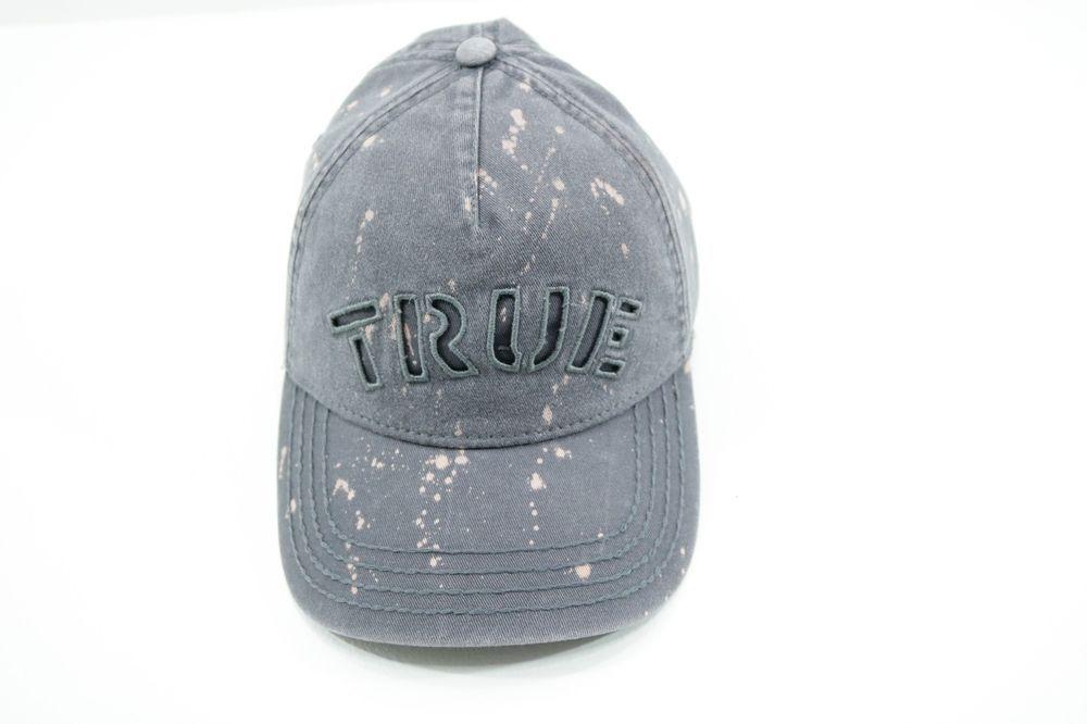 0443ddafb TRUE RELIGION Mens Charcoal Adjustable Strapback Baseball Cap Hat ...