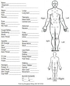 Student Nurse Assessment Sheet | Filed under ...