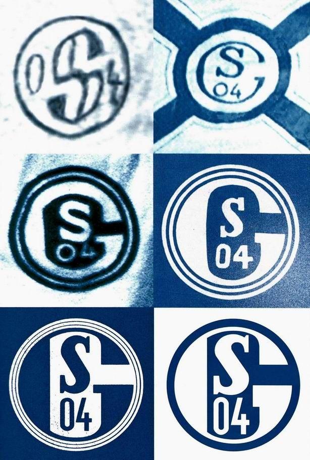 schalke 04 und seine logo geschichte gl ck auf. Black Bedroom Furniture Sets. Home Design Ideas