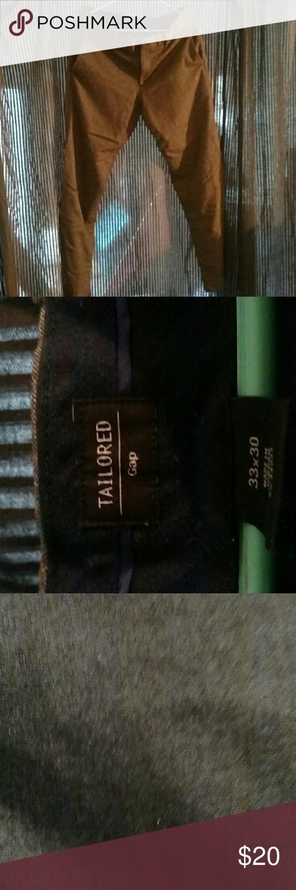 Wool slacks Grey slim fitting wool dress slacks Gap tailored   Pants Trousers
