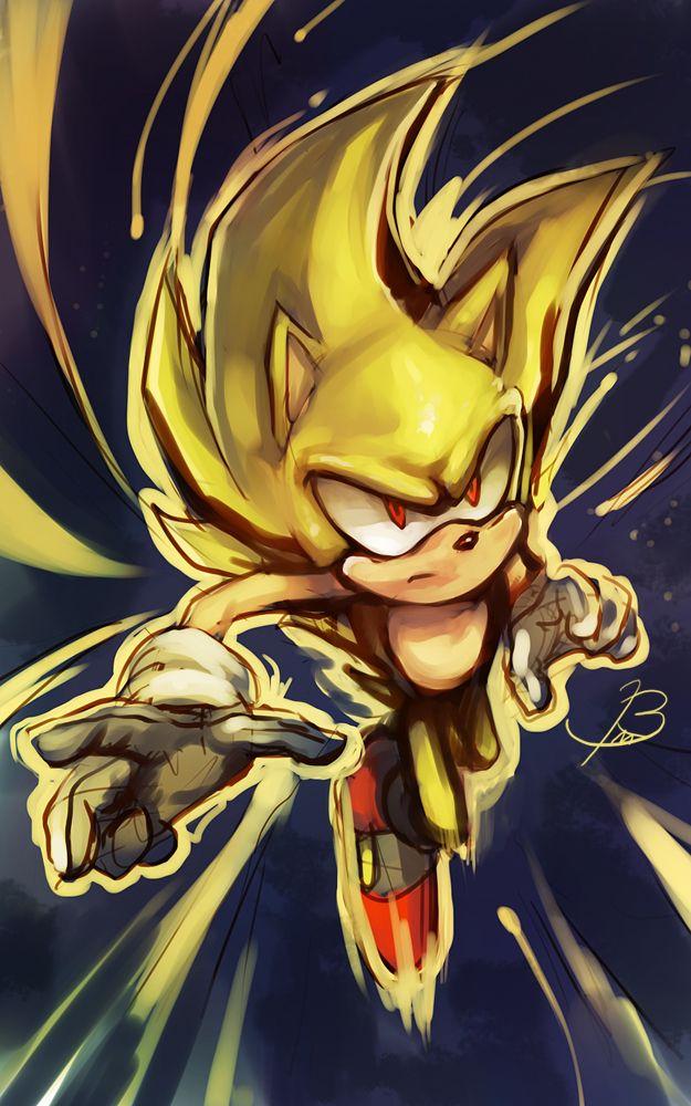 Super Sonic By Bbrangka On Deviantart Sonic Dibujos Arte Erizo Sonic