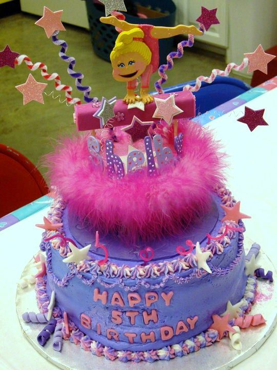 Image Detail For Gymnastic Birthday Cake Topper Or Party Centerpiece