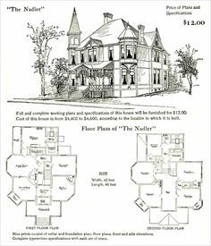 Queen Anne home plans...on my to do list | House plans | Pinterest ...