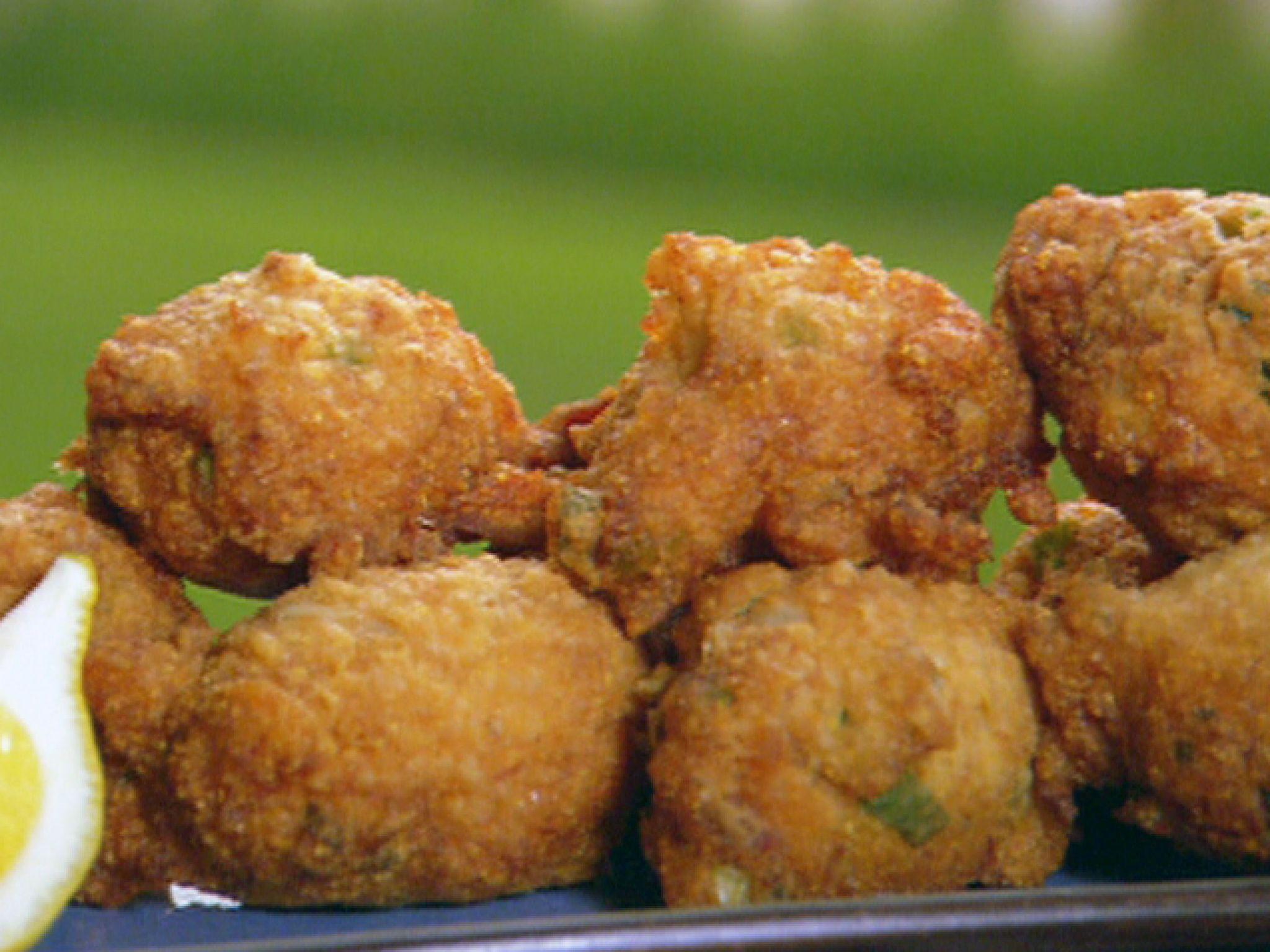 Crab Hushpuppies Recipe Hush Puppies Recipe Food Food Network Recipes