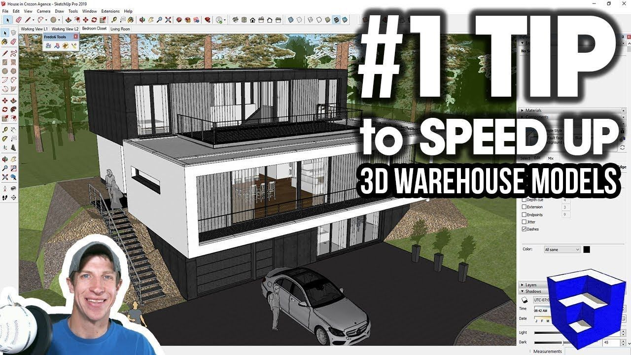 My 1 Tip For Speeding Up 3d Warehouse Models In Sketchup Speed