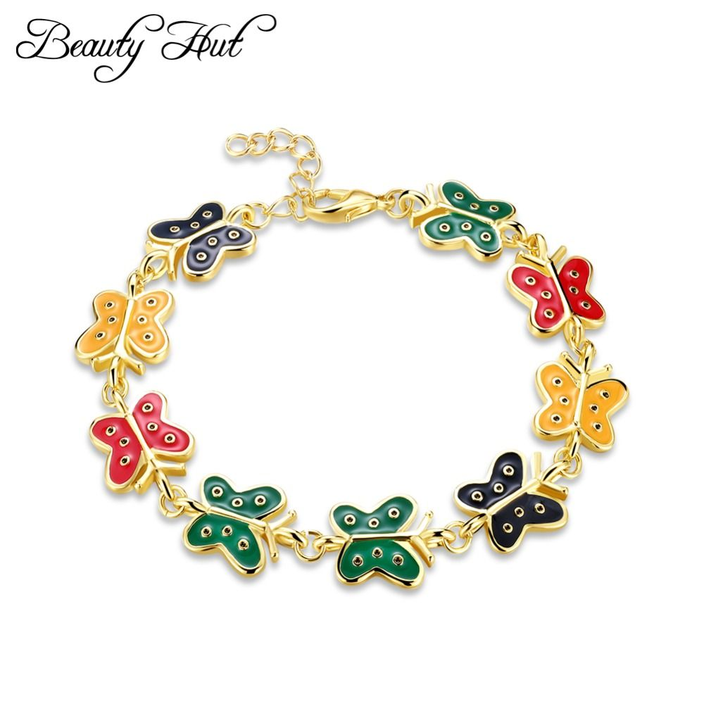 beauty hut akb027 lady fashion trend butterfly pendant bracelet
