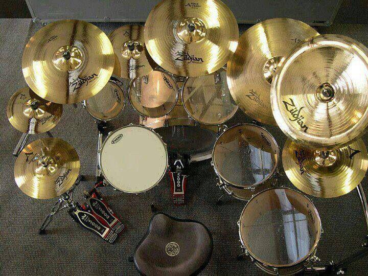 Shiny cymbals