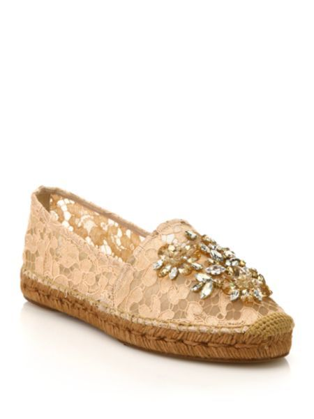Dolce & Gabbana Embellished Lace Flats sale wholesale price countdown package Manchester cheap online sast sale online KCPLL