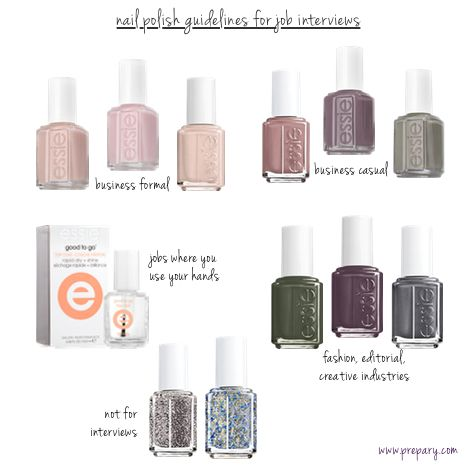What Nail Polish Colors Are Appropriate For Interviews The Prepary Interview Nails Nail Polish Nail Polish Colors