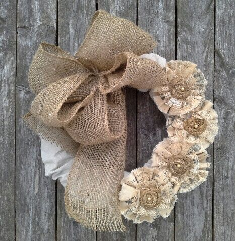 Wreath  Burlap and linen wreath  French Country  Wall decor  Door decor   French Market  Paris chicWreath  Burlap and linen wreath  French Country  Wall decor  Door  . Diy French Country Wall Decor. Home Design Ideas