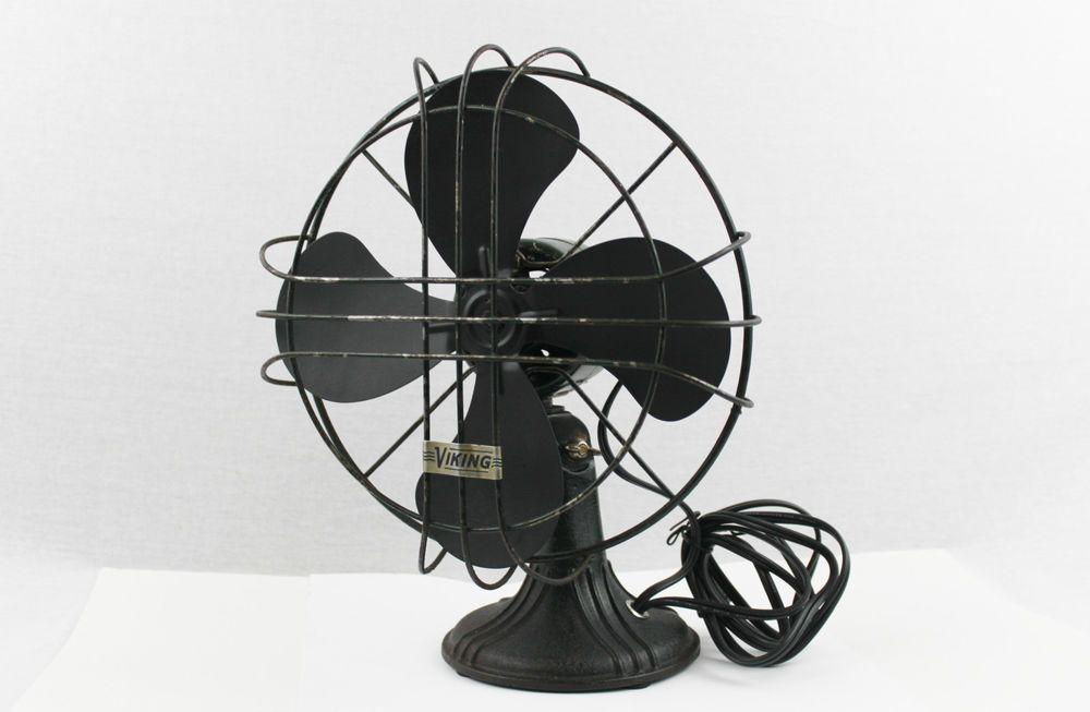 Antique 1930s Viking 10 Oscillating Desk Fan Vintage Home Decor Electric Fan Fan Desk Fan Vintage Fans
