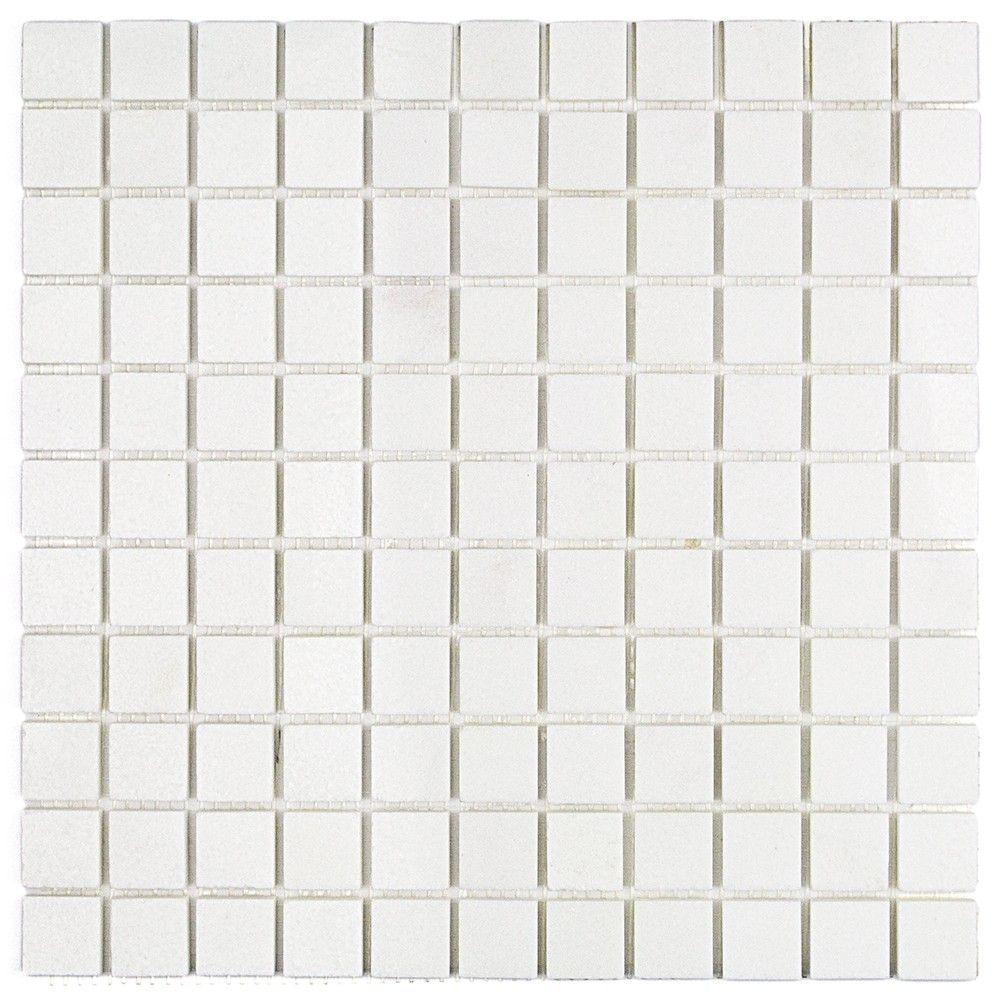White Thassos 1x1 Polished Marble Tile Marble Mosaic Tiles Marble Mosaic Mosaic Tiles