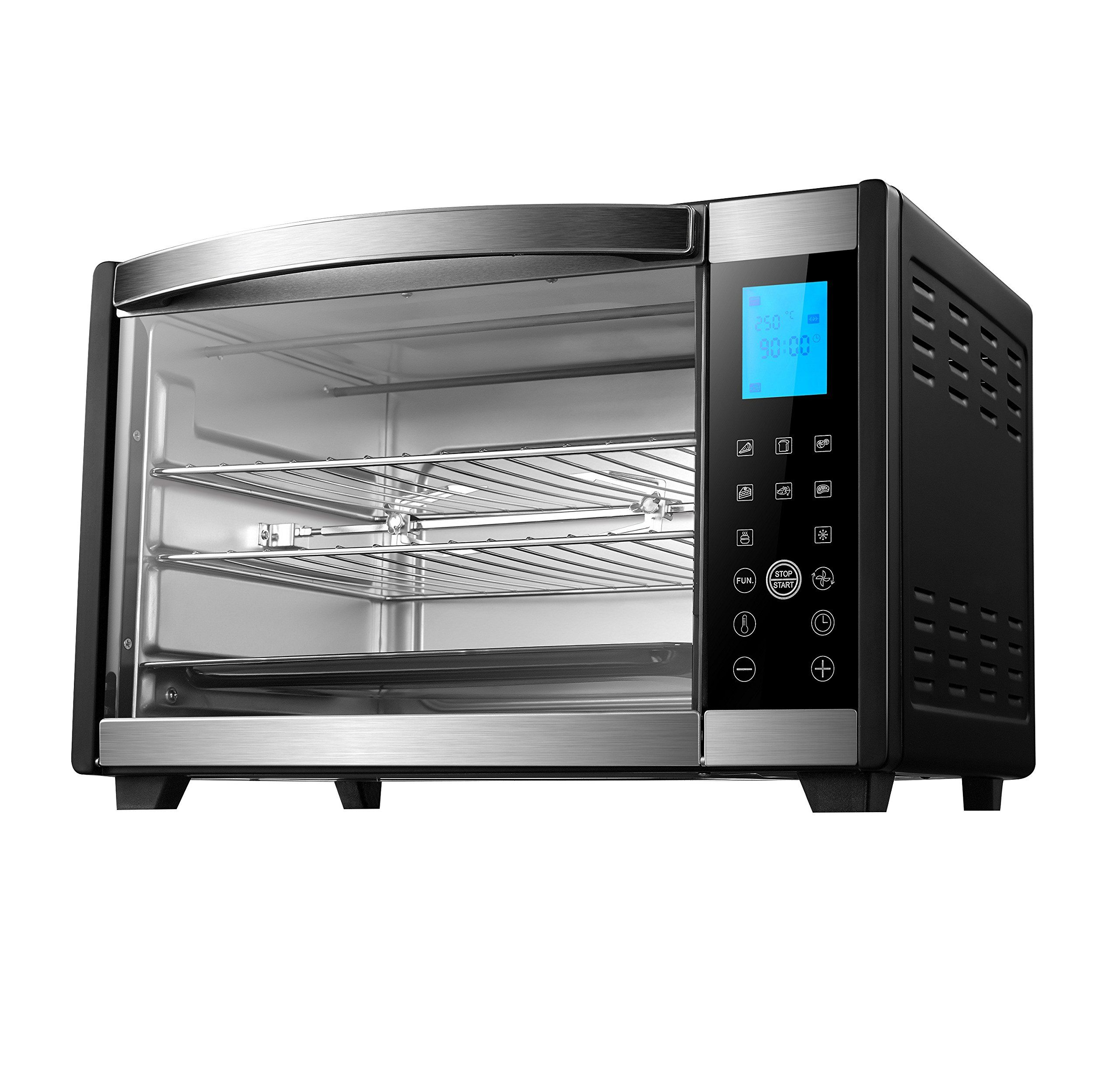 Emerson Convection And Rotisserie Countertop Toaster Oven 6slice