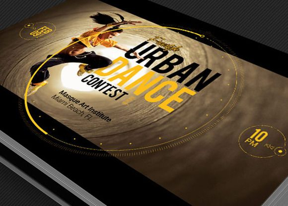 Urban Dance Contest Flyer Template by Godserv Marketplace on - dance ticket template